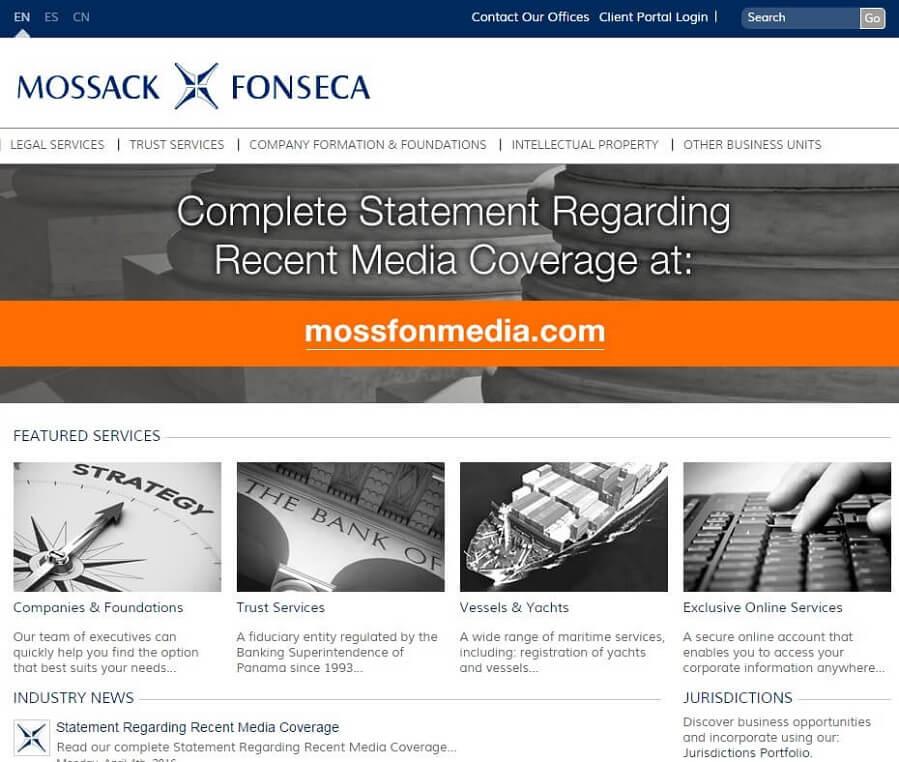 وب سایت شرکت موساک فونسکا